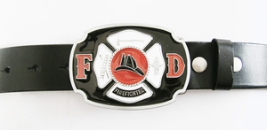 Belt (Firefighter FD Real Leather Belt)