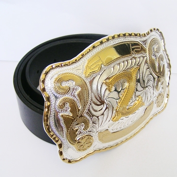 Belt | Initial Letter Z Black Genuine Leather Belt