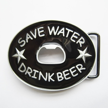 New Save Water Drink Beer Bottle Opener Belt Buckle