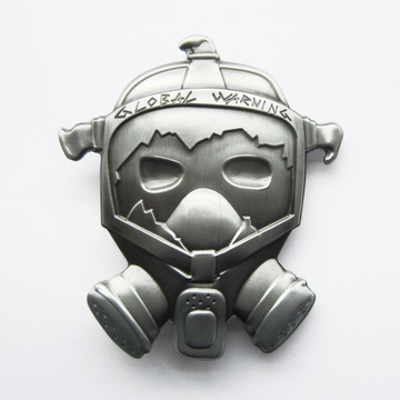 Cut out Gas Mask Vintage Belt Buckle