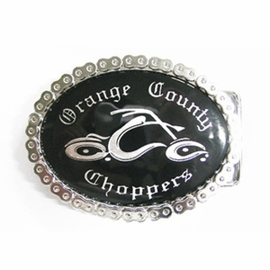 Classic New Vintage Oval Motorcycle Chain Biker Rider Blank Belt Buckle Custom Belt Buckle