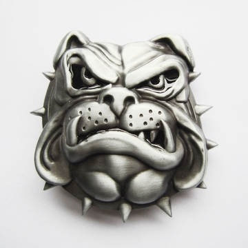 New England British Bulldog Enamel Animal Vintage Belt Buckle