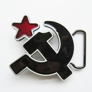 New Jean's Friend Enamel Soviet Hammer And Sickle Vintage Belt Buckle Gurtelschnalle Boucle de ceinture