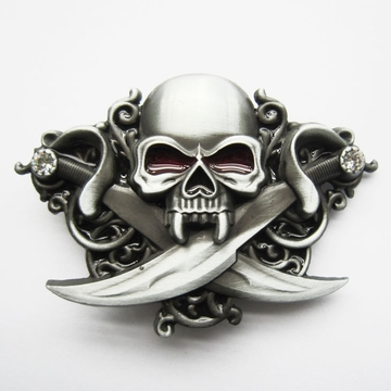 Jean's Friend New Classic Skull Emo Rhinestones Bling Belt Buckle