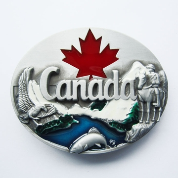 New Canada Canadian Maple Leaf Wildlife Belt Buckle Gurtelschnalle Boucle de ceinture
