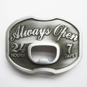 New Vintage Always Open Beer Bottle Opener Belt Buckle