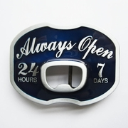 New Always Open Beer Bottle Opener Enamel Vintage Belt Buckle