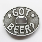 New Vintage Classic Oval Got Beer Bottle Opener Belt Buckle Gurtelschnalle Boucle de ceinture