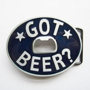 New Vintage Classic Oval Blue Enamel Got Beer Bottle Opener Belt Buckle Gurtelschnalle Boucle de ceinture