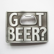 New Vintage Classic Got Beer Bottle Opener Rectangle Belt Buckle Gurtelschnalle