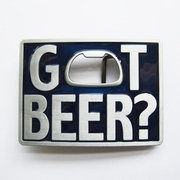New Vintage Classic Blue Enamel Got Beer Bottle Opener Rectangle Belt Buckle Gurtelschnalle