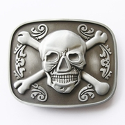 New Vintage Tattoo Jolly Roger Pirate Skull Bottle Opener Belt Buckle