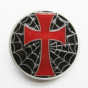 New Jean's Friend Enamel Iron Cross Spider Web Vintage Belt Buckle Gurtelschnalle Boucle de ceinture