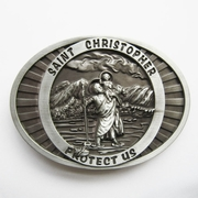 New Jean's Friend Original Saint Christopher Religion Vintage Belt Buckle Gurtelschnalle Boucle de ceinture
