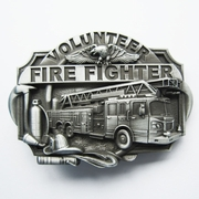 New Vintage Western Volunteer Firefighter Fire Belt Buckle Gurtelschnalle Boucle de ceinture