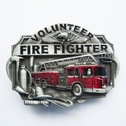 New Vintage Enamel Western Volunteer Firefighter Fire Belt Buckle Gurtelschnalle Boucle de ceinture BUCKLE-WT007