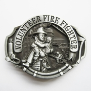 New Hero Volunteer Fire Fighter Vintage Belt Buckle Gurtelschnalle Boucle de ceinture BUCKLE-OC009AS
