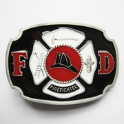 New Vintage Enamel Fire Hero Firefighter FD Belt Buckle Gurtelschnalle Boucle de ceinture BUCKLE-OC029