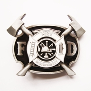 Jeansfriend New Enamel Firefighter FD Cross Belt Buckle Gurtelschnalle Boucle de ceinture