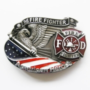 New Vintage American Hero Firefighter Fire Enamel Belt Buckle Gurtelschnalle Boucle de ceinture BUCKLE-3D039