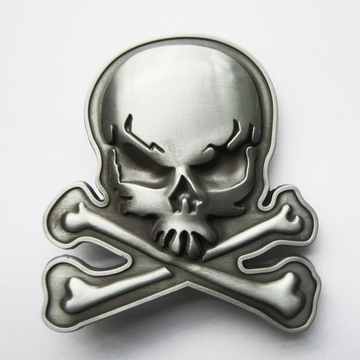 New Skull With Bones Vintage Belt Buckle Gurtelschnalle Boucle de ceinture BUCKLE-SK013AS