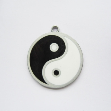 New Vintage Double Faces Yinyang Taiji Metal Pendant Charm