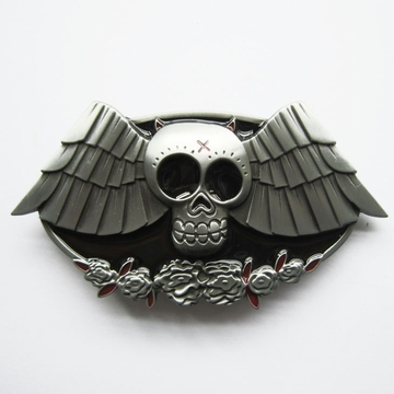 New Vintage Rose Skull Evil Wings Belt Buckle Gurtelschnalle Boucle de ceinture