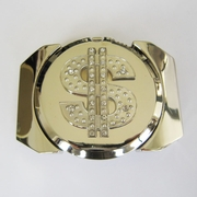 New Bright Silver Rhinestone US Dollar Sign Lighter Belt Buckle Gurtelschnalle Boucle de ceinture