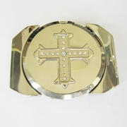 New Bright Silver Rhinestone Cross Lighter Belt Buckle Gurtelschnalle Boucle de ceinture