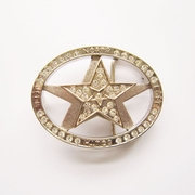 Belt Buckle (Rhinestones Star Spinner)