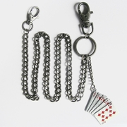 Wallet Chain (Red Royal Flush Poker Cards Jeans Waist Wallet Chain)