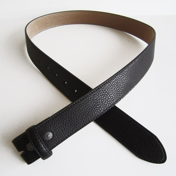 New JEAN'S FRIEND Black PU Imitate Leather Belt Solid Heavy PU Snap On Belt Gurtel