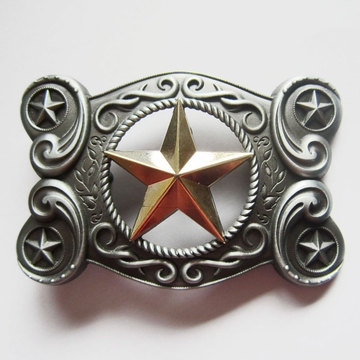 Original New Vintage Western Celtic Golden Star Belt Buckle Gurtelschnalle Boucle de ceinture