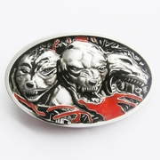 New Vintage Hell Dogs Oval Belt Buckle Gurtelschnalle Boucle de ceinture