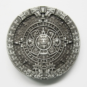 JEAN'S FRIEND New Classic Round Vintage Aztec Calendar Belt Buckle