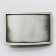 Classic New Antique Brushed Silver Rectangle Blank Belt Buckle Custom Belt Buckle