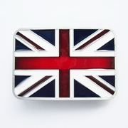 New Jeansfriend Enamel Union Jack Flag UK Flag Vintage Belt Buckle