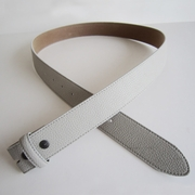 Grey PU Leather Belt Solid Heavy PU Snap On Belt
