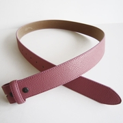 Pink PU Leather Belt Solid Heavy PU Snap On Belt