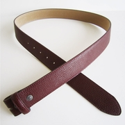 Red PU Leather Belt Solid Heavy PU Snap On Belt