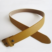 Yellow PU Leather Belt Solid Heavy PU Snap On Belt