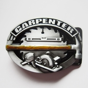New Vintage Enamel Tradesman Carpenter Hammer Oval Belt Buckle Gurtelschnalle Boucle de ceinture