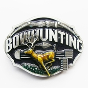 New Enamel Vintage Bowhunting Deer Western Oval Belt Buckle