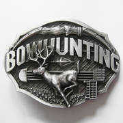 New Vintage Western Wildlife Bowhunting Deer Belt Buckle Gurtelschnalle Boucle de ceinture