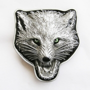 New Original Vintage Western Wolf Head Wild Animal Belt Buckle