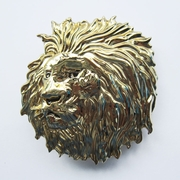 New Gold Color Plated Animal King Head Wildlife Western Belt Buckle