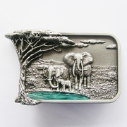 New Original Africa Elephant Big Tree Wildlife Western Belt Buckle
