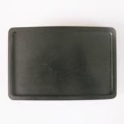 Classic Black Plated Rectangle Blank Belt Buckle Custom Belt Buckle