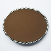 New Leather Covered Oval Blank Belt Buckle