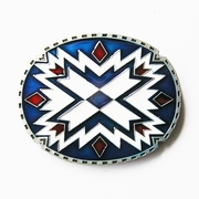 New Vintage American Southwest Cross Oval Belt Buckle Gurtelschnalle Boucle de ceinture